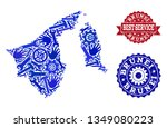 best service collage of blue... | Shutterstock .eps vector #1349080223