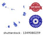 best service collage of blue... | Shutterstock .eps vector #1349080259