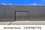 metal  patterned  chrome wall... | Shutterstock . vector #1349086796