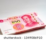 100 yuan note  bank account ... | Shutterstock . vector #1349086910