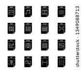 files format glyph icons set.... | Shutterstock .eps vector #1349088713