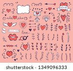 collection of hand drawn... | Shutterstock .eps vector #1349096333