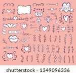 collection of hand drawn... | Shutterstock .eps vector #1349096336