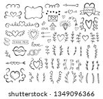 collection of hand drawn... | Shutterstock .eps vector #1349096366