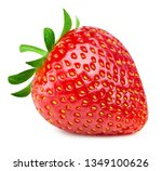 Strawberries Isolated On White...