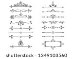 set of decorative elements for... | Shutterstock .eps vector #1349103560