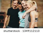diverse group of friends in... | Shutterstock . vector #1349112113