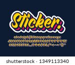 font and typeface design style... | Shutterstock .eps vector #1349113340