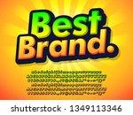 retro style best brand orange...   Shutterstock .eps vector #1349113346