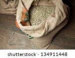 green coffee bag | Shutterstock . vector #134911448