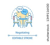 negotiation concept icon.... | Shutterstock .eps vector #1349116430