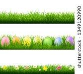 green grass borders collection... | Shutterstock .eps vector #1349120990