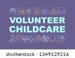 childcare volunteering word...