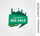 ramadan sale with mosque and... | Shutterstock .eps vector #1349130539