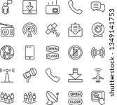 thin line icon set   plane... | Shutterstock .eps vector #1349141753