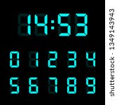 digital clock number set.... | Shutterstock .eps vector #1349143943