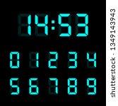 digital clock number set.... | Shutterstock .eps vector #1349143943