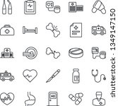 thin line icon set   medical...   Shutterstock .eps vector #1349147150