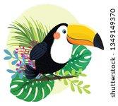 toucan  exotic birds  tropical... | Shutterstock .eps vector #1349149370