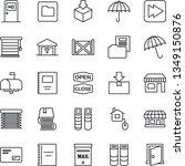 thin line icon set   umbrella... | Shutterstock .eps vector #1349150876