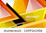 tech futuristic geometric 3d... | Shutterstock .eps vector #1349161406