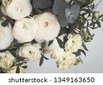 beautiful bouquet of flowers on ... | Shutterstock . vector #1349163650