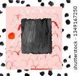 creative art background with... | Shutterstock . vector #1349167250