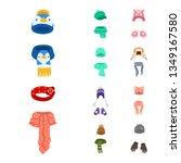 vector illustration of headwear ...   Shutterstock .eps vector #1349167580