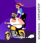 vector illustration of couple... | Shutterstock .eps vector #1349169539