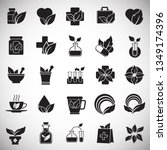 phytoterapy icons set on white... | Shutterstock .eps vector #1349174396