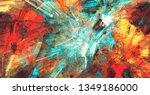 bright artistic splashes.... | Shutterstock . vector #1349186000