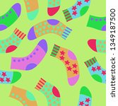 seamless composition of socks... | Shutterstock . vector #1349187500