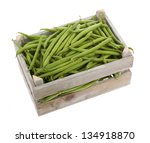 Wooden Crate With Fresh Green...