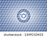 restaurant icon inside blue... | Shutterstock .eps vector #1349210423