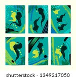 universal abstract posters set. ... | Shutterstock .eps vector #1349217050