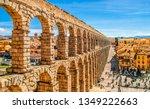 Ancient Roman Aqueduct On Plaza ...