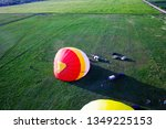 process of inflating large air... | Shutterstock . vector #1349225153