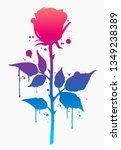 rose. decorative rose... | Shutterstock .eps vector #1349238389