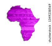 sketch wooden african continent ... | Shutterstock . vector #1349238569