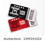 vector cinema tickets isolated... | Shutterstock .eps vector #1349241323