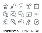 quality related line icon set.  ...