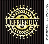 unfriendly shiny emblem | Shutterstock .eps vector #1349242709