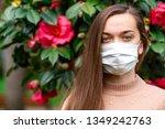 portrait of allergy woman in... | Shutterstock . vector #1349242763