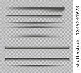 set of  transparent shadows.... | Shutterstock .eps vector #1349244923