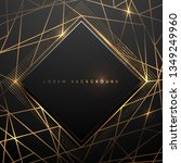 gold and black polygonal luxury ... | Shutterstock .eps vector #1349249960