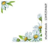 beautiful watercolor frame...   Shutterstock . vector #1349254469
