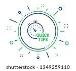 quick tips line icon. helpful... | Shutterstock .eps vector #1349259110