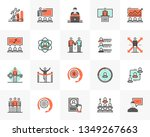flat line icons set of business ... | Shutterstock .eps vector #1349267663