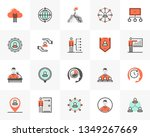 flat line icons set of business ... | Shutterstock .eps vector #1349267669