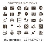cartography icon set. 30 filled ...   Shutterstock .eps vector #1349274746